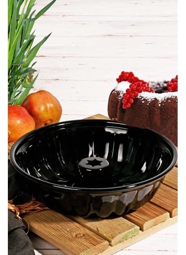 Kitchen Love Emaye Lüx Kek Kalıbı-Siyah Siyah